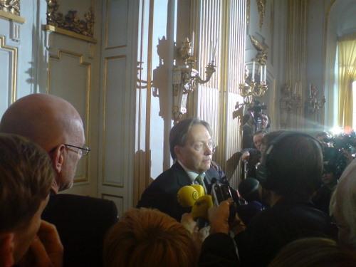Horace Engdahl bei der Pressekonferenz