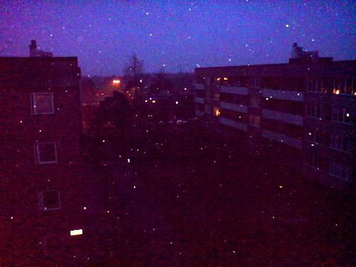 Schnee Abend 8.4.