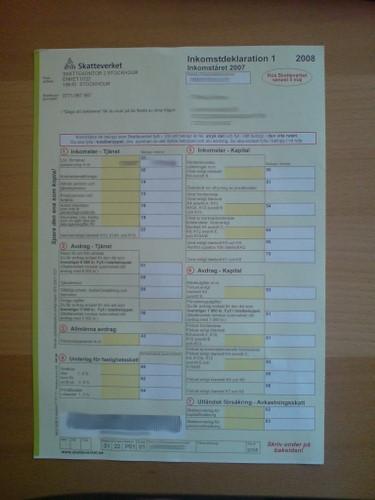 Steuererklärung 1