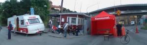 Streikwache in Hornsberg
