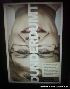 Maud Olofsson, Vorsitzende der Zentrumspartei, auf einem Plakat von LO