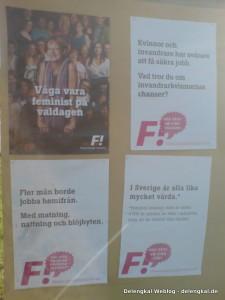 Wage am Wahltag, Feminist zu sein