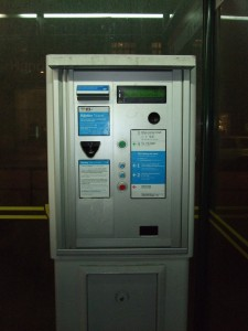 Ein Fahrkartenautomat, wie sie nun verschwinden.