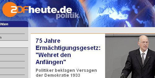 ZDF Politiker beklagen 1933